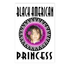 BLACK AMERICAN PRINCESS Postcards (Package of 8)