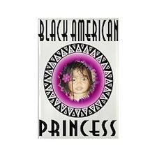 BLACK AMERICAN PRINCESS Rectangle Magnet