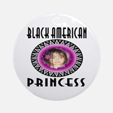 BLACK AMERICAN PRINCESS Ornament (Round)