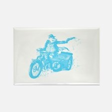 Biker Pig Rectangle Magnet (100 pack)