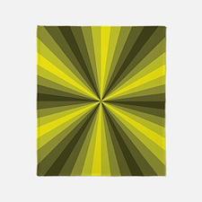 Yellow Illusion Throw Blanket
