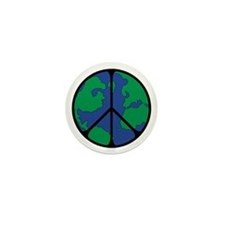 Global Peace Sign Mini Button (100 pack)