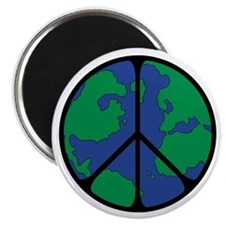 Global Peace Sign Magnet