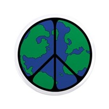 """Global Peace Sign 3.5"""" Button (100 pack)"""