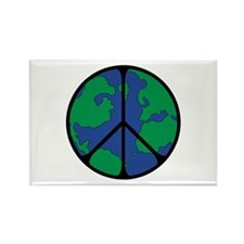Global Peace Sign Rectangle Magnet
