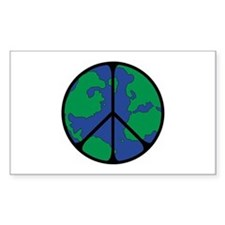 Global Peace Sign Decal