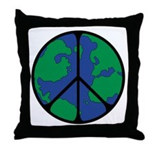 Global Peace Sign Throw Pillow