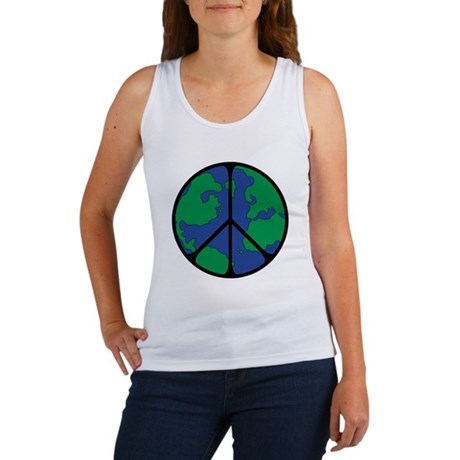 Global Peace Sign Women's Tank Top