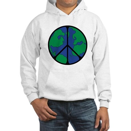 Global Peace Sign Hooded Sweatshirt