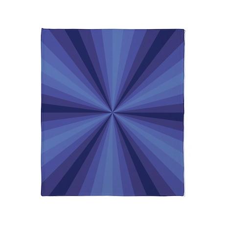 Blue Illusion Throw Blanket