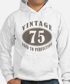75th Vintage Brown Hoodie