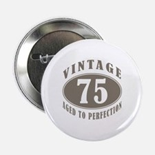 "75th Vintage Brown 2.25"" Button"