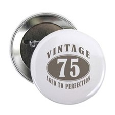 "75th Vintage Brown 2.25"" Button (10 pack)"