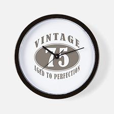 75th Vintage Brown Wall Clock