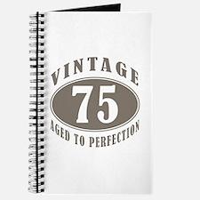 75th Vintage Brown Journal