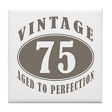75th Vintage Brown Tile Coaster