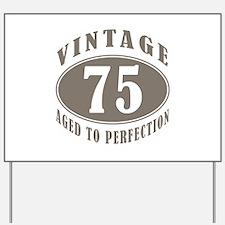 75th Vintage Brown Yard Sign