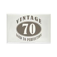 70th Vintage Brown Rectangle Magnet