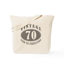 70th Vintage Brown Tote Bag
