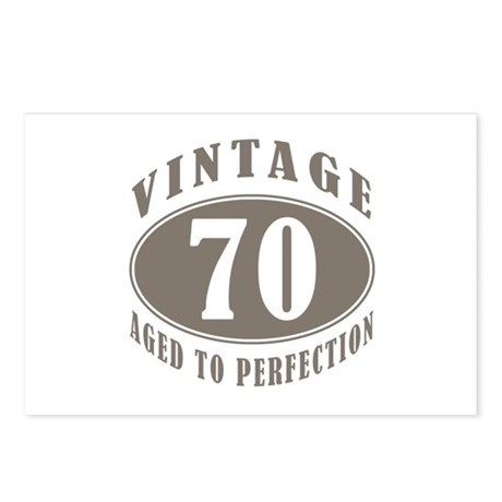 70th Vintage Brown Postcards (Package of 8)