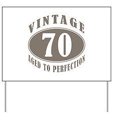 70th Vintage Brown Yard Sign