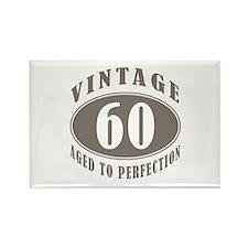 60th Vintage Brown Rectangle Magnet