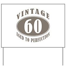 60th Vintage Brown Yard Sign