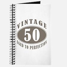 50th Vintage Brown Journal