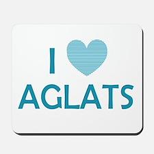 I Love Aglats Mousepad