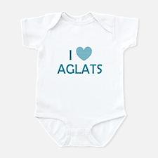I Love Aglats Infant Bodysuit