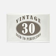 30th Vintage Brown Rectangle Magnet