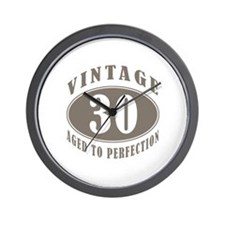 30th Vintage Brown Wall Clock