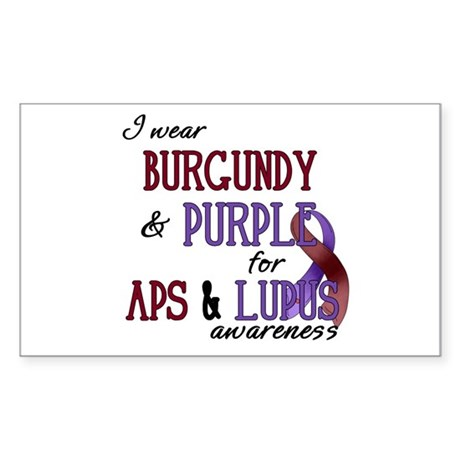 For APS & Lupus Awareness Sticker (Rectangle)