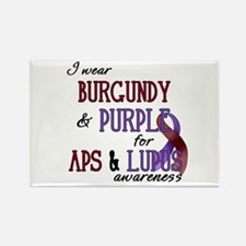 For APS & Lupus Awareness Rectangle Magnet