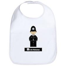 Cute British Policeman Babies Bib