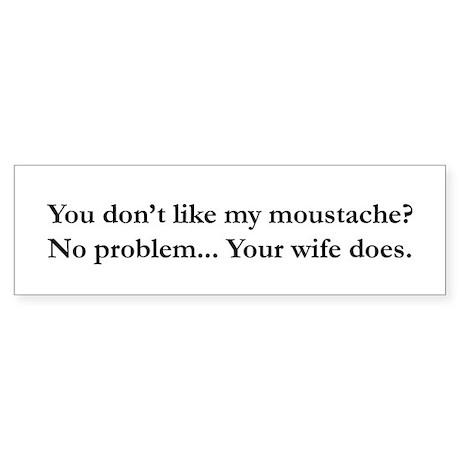 Moustache Bumper Sticker