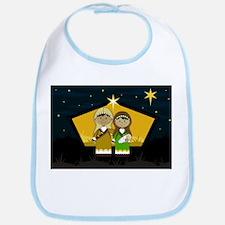 Joseph and Mary Nativity Babies Bib