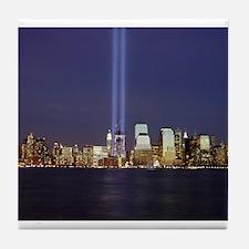 9 11 Tribute of Light Tile Coaster