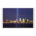 9 11 Tribute of Light Sticker (Rectangle 10 pk)