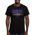 9 11 Tribute of Light Men's Fitted T-Shirt (dark)