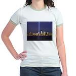 9 11 Tribute of Light Jr. Ringer T-Shirt