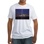 9 11 Tribute of Light Fitted T-Shirt