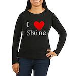 Support Slaine Women's Long Sleeve Dark T-Shirt
