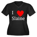 Support Slaine Women's Plus Size V-Neck Dark T-Shi