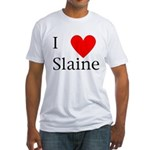 Support Slaine Fitted T-Shirt