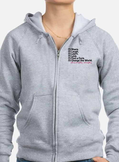 Girls Can Do Anything Zip Hoodie