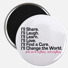"""Girls Can Do Anything 2.25"""" Magnet (100 pack)"""