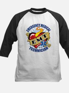 EMT Classic Heart Tattoo Kids Baseball Jersey