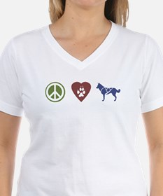 Peace, Love & Sled Dogs Shirt