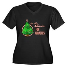 SeasonMiraclesCancer Women's Plus Size V-Neck Dark